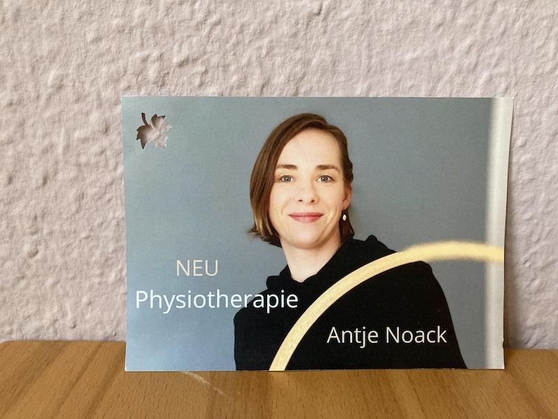 Neueröffnung Physiotherapie Antje Noack in Lichtenberg